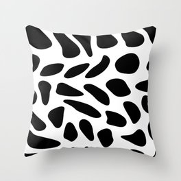 Black Pebbles Motif Throw Pillow