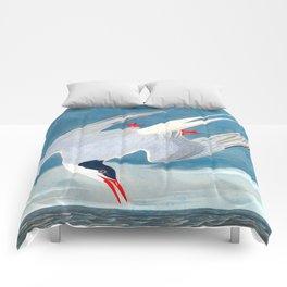 Arctic Tern James Audubon Vintage Scientific Illustration American Birds Comforters