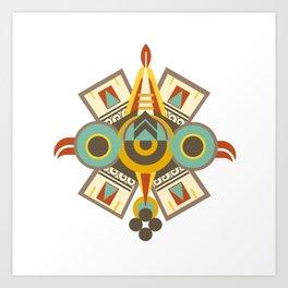 Aztec - Symbol of Ollin Art Print
