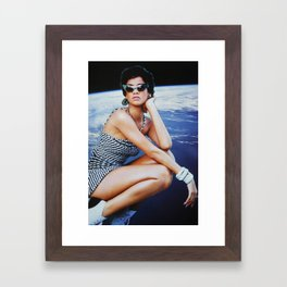 Space Rihanna Framed Art Print