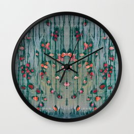 Cottage Roses Wall Clock