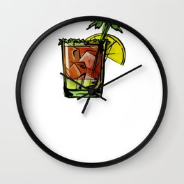 Bloody Mary Brunch Drink Wall Clock