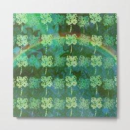 Shamrocks with a Rainbow Metal Print