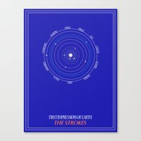 astrology Canvas Prints featuring ASTROLOGY by Strange City