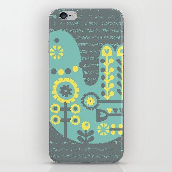 Folksy Birdie iPhone & iPod Skin