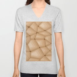 BROWN STONE Abstract Art Unisex V-Neck