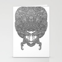 afro Stationery Cards featuring AFRO by varvar2076