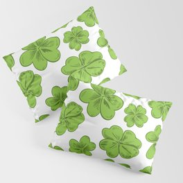 Lucky Clover Pattern Leaves Decoration Pillow Sham
