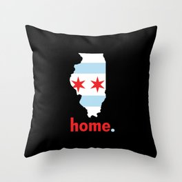 Illinois Proud Throw Pillow