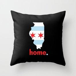 Illinois Proud Throw Pillow