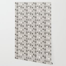 FUNKY PATTERN Triangles brown Wallpaper