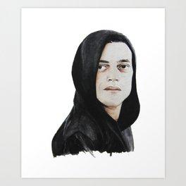 Elliot Alderson Mr. Robot Art Print