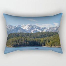 Eibsee Lake Rectangular Pillow
