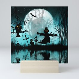 Funny halloween design Mini Art Print