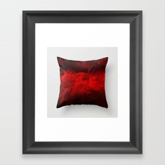 Modern Art - Dark Red Throw Pillow - Jeff Koons Inspired - Postmodernism Framed Art Print