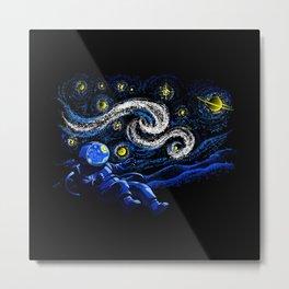 Starry Night Gravity Metal Print