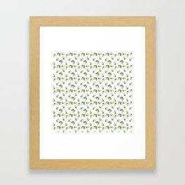 Watercolour Avocado Pattern Framed Art Print