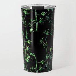 Modern lime green black chinese bamboo tree Travel Mug