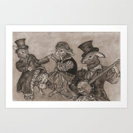 Rabbit Party Art Print