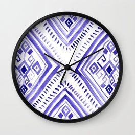 Ethnic diamonds Wall Clock