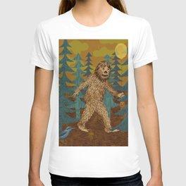 Bigfoot birthday card T-shirt