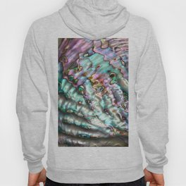 Glowing Cotton Candy Pink & Green Abalone Mother of Pearl Hoody