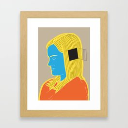 Cell in her head Framed Art Print