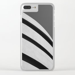 Blank Space - Black and White Architecture Photography Clear iPhone Case