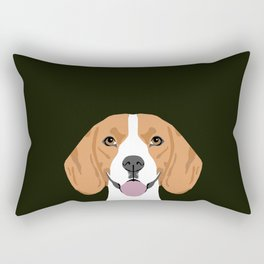 Darby - Beagle gifts for pet owners and dog person with a beagle Rectangular Pillow