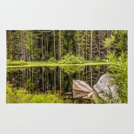Quiet Forest lake Rug