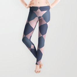 Gray pink Geometric pattern Leggings