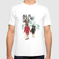 ALL IS FULL OF LOVE MEDIUM White Mens Fitted Tee