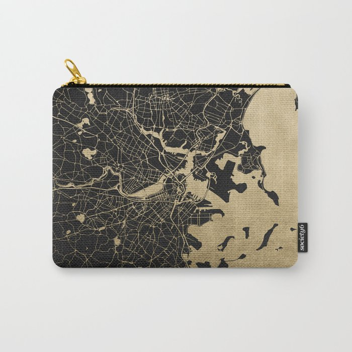 Boston Gold and Black Invert Carry-All Pouch