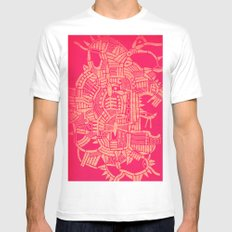 - the pink stencil - Mens Fitted Tee White MEDIUM