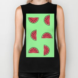 Watermelon Slices Biker Tank