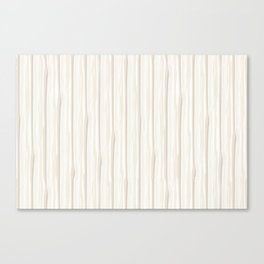 Creamy Off White SW7012 Vertical Grunge Abstract Line Pattern Canvas Print