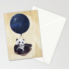 Panda in space Stationery Cards