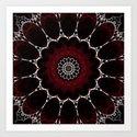 Deep Ruby Red Mandala Design by artaddiction45