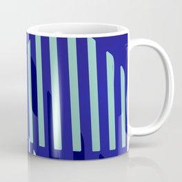 Abstract Blue Peaks Minimalism Coffee Mug