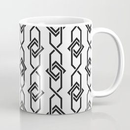 Japanese yukata geometric line pattern in grey Coffee Mug