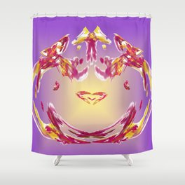 the inner heart - das innere Herz Shower Curtain