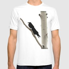 Two Crows MEDIUM White Mens Fitted Tee