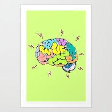 Brain Zap Art Print