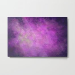 Abstract Soft Watercolor Gradient Ombre Blend 5 Light and Dark Purple Metal Print