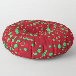 CrimsonSangriaTeal_Abstract Floor Pillow
