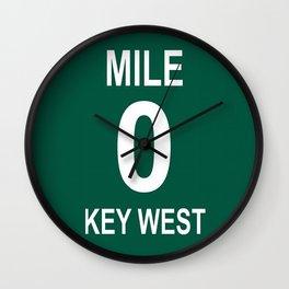 Key West Mile Marker 0 (Zero) U.S. Route 1 (US 1) through the Florida Keys to Key West Wall Clock