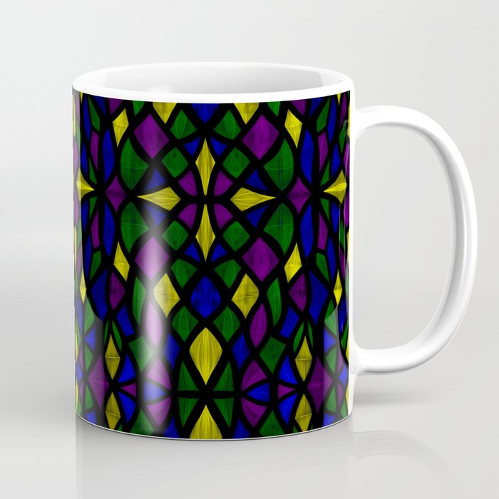 Stained Glass Scales Coffee Mug