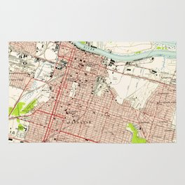 Vintage Map of Savannah Georgia (1955) Rug