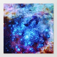 galaxy Canvas Prints featuring galaxy by 2sweet4words Designs