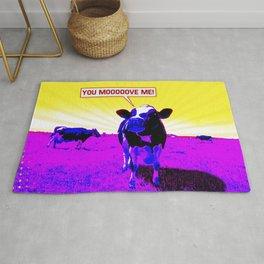 Psychedelic Cows Rug